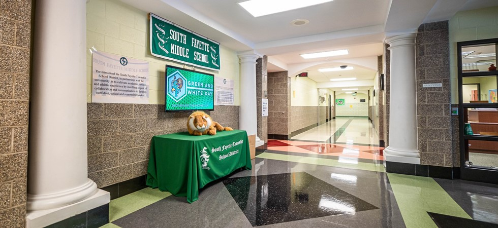 South Fayette Middle School lobby
