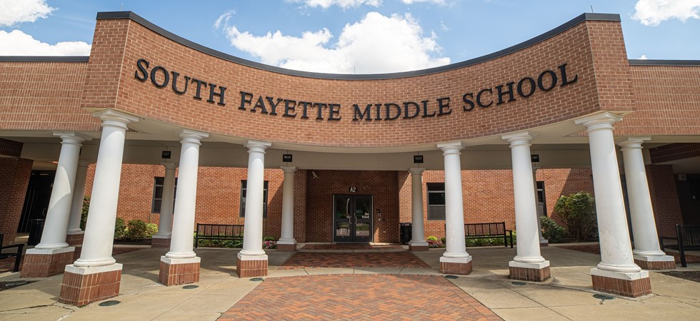 Front of South Fayette Middle School