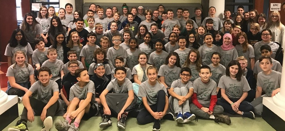 Sixth Grade students in hallway