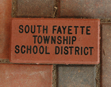 South Fayette Township engraved on a brick